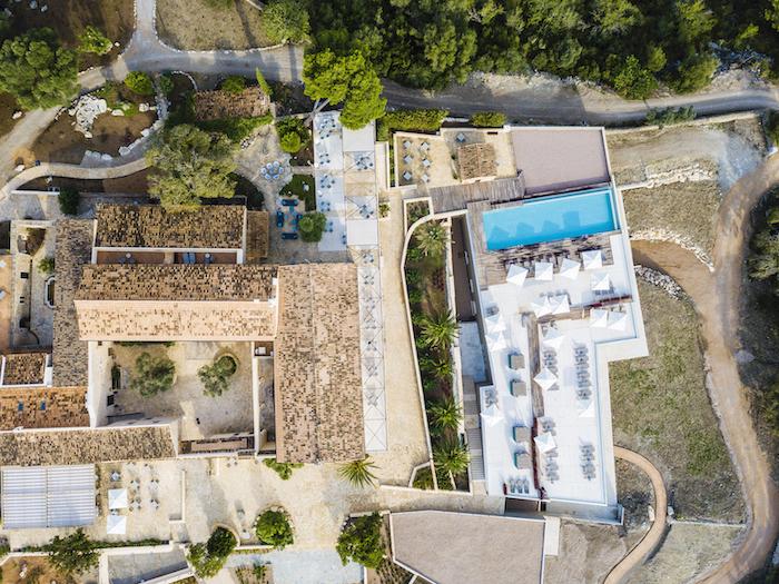 Helikopter-Ansicht Hotel Carrossa Mallorca