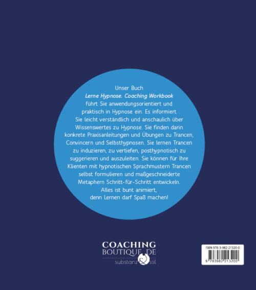 Buchrücken Buch Lerne Hypnose, Coaching Workbook